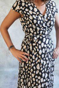 Golden stip Dress