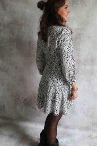 White Stip Dress