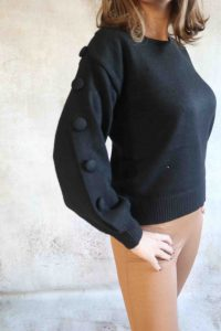 Black knoop Sweater