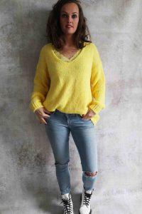 Gele trui + Top