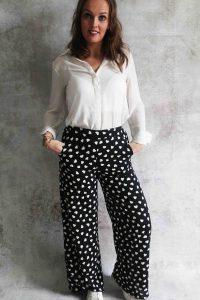 Black heart pants