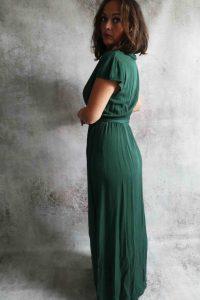 Overslag jurk Donkergroen