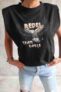 Black Print Tshirt