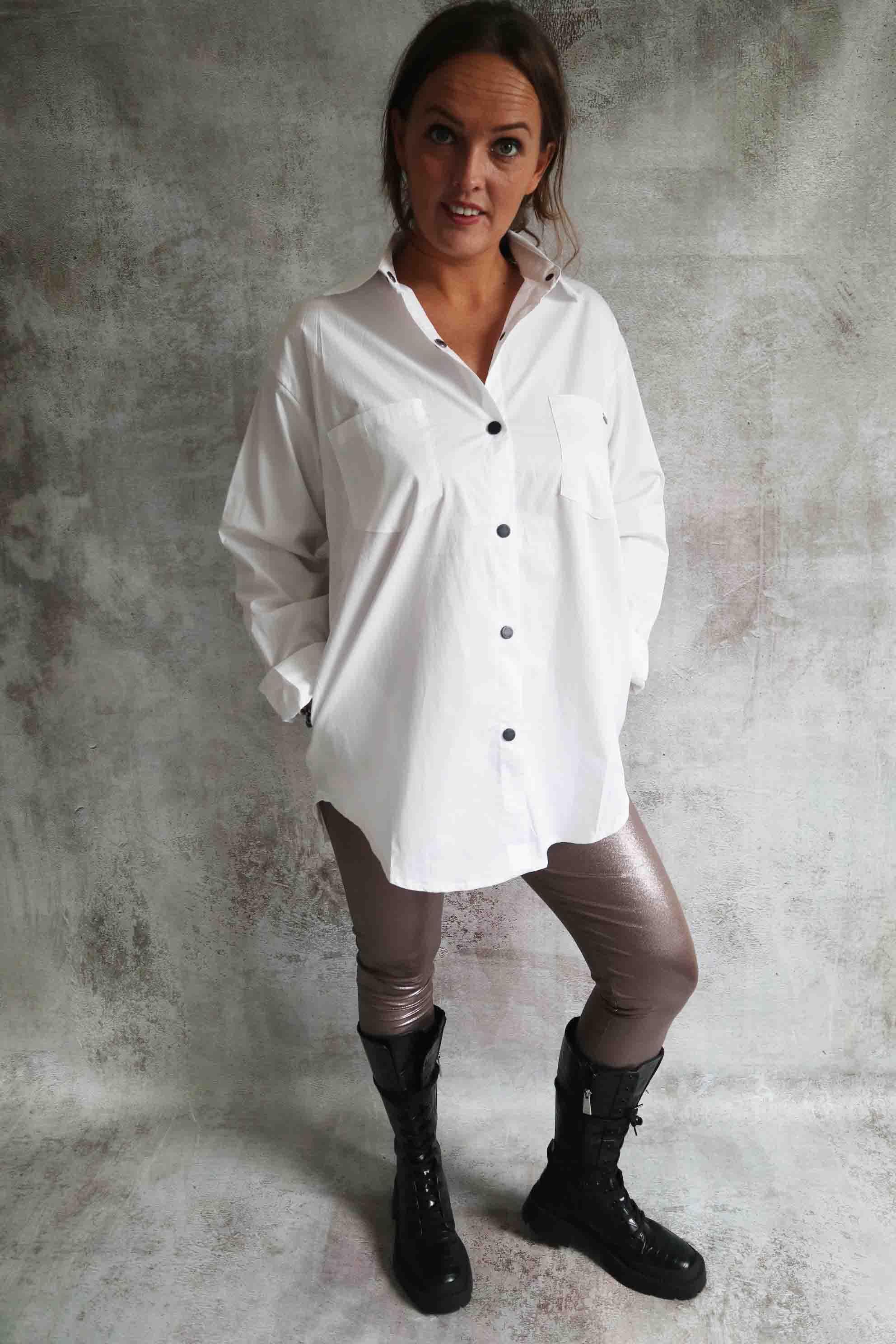 Witte blouse lang